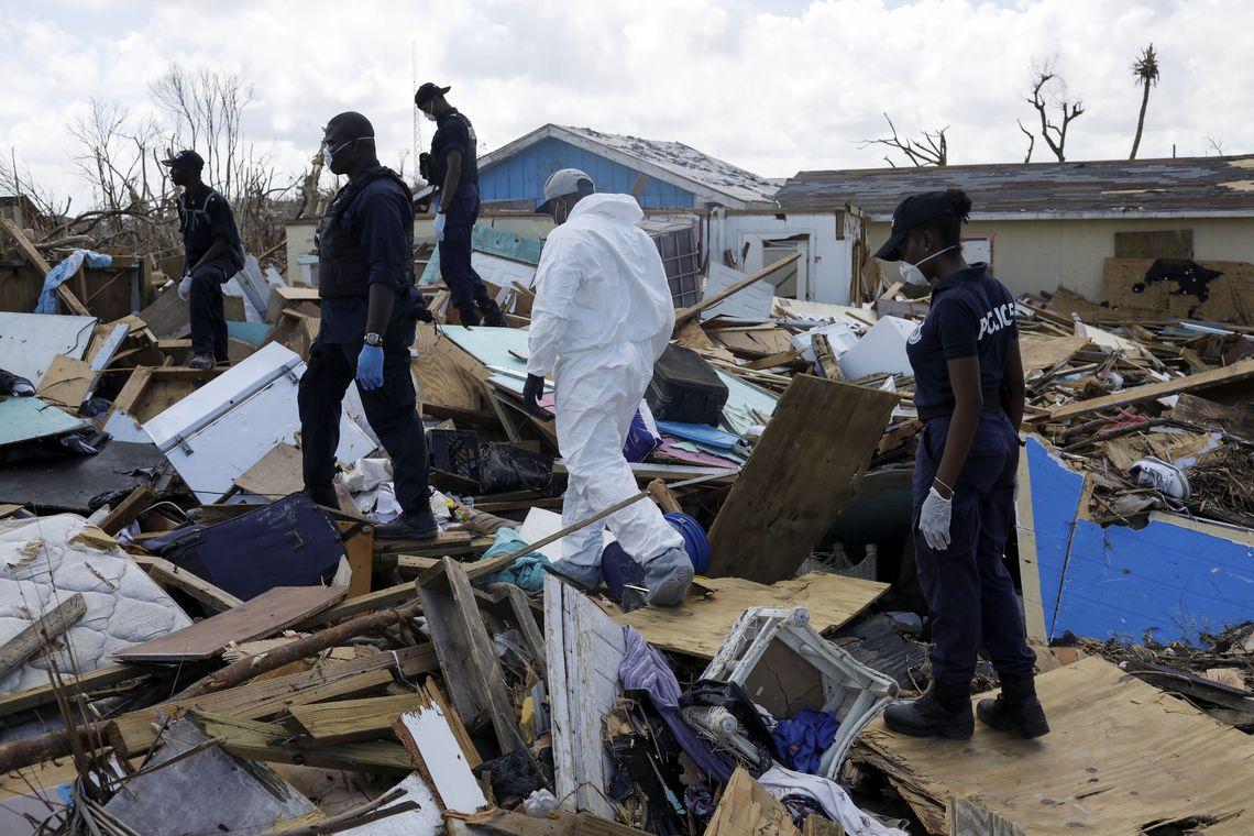 Estragos deixados pelo Furacão Dorian nas Bahamas