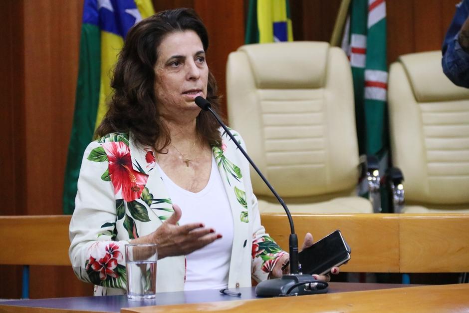 Filiada ao PSDB por oito anos, a atual vereadora Drª Cristina anunciou a saída da sigla para se filiar ao PL para concorrer à prefeitura de Goiânia.(Foto: Alberto Maia/ Câmara Municipal)