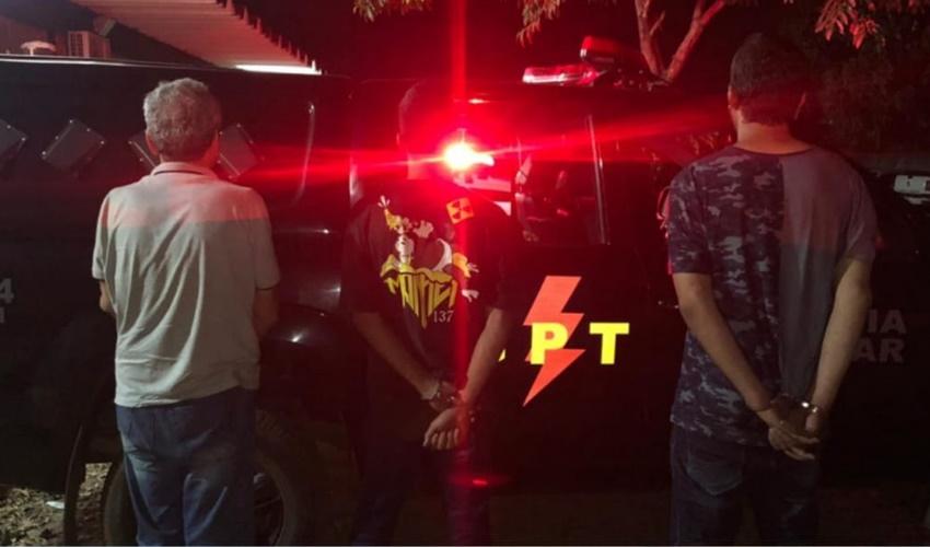 Três suspeitos foram presos de participar no roubo do caminhão