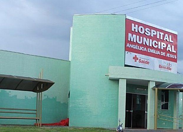 Gravemente ferida, a mulher chegou a ser levada o Hospital Municipal de Barro Alto, mas não resistiu e morreu (Foto: Reprodução)