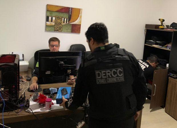 Em Formosa, um dono de um site pirata mantinha 7 mil usuários na base cadastral (Foto: Dercc)