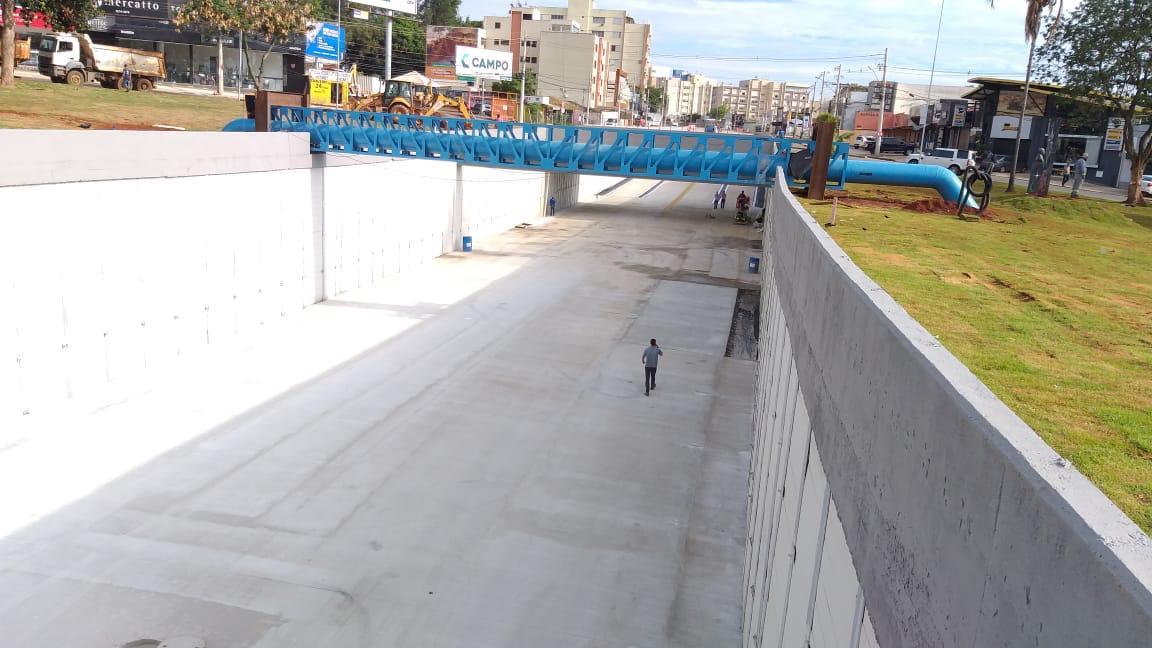 Obras do viaduto da Rua 90 são finalizadas (Foto: Prefeitura de Goiânia)