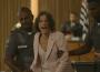 E, 'A Dona do Pedaço', ao ouvir a sentença do juiz, Maria da Paz (Juliana Paes) sofre e é confortada por Amadeu (Marcos Palmeira) — (Foto: TV Globo)