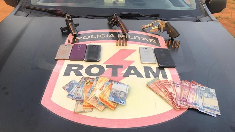 Trio suspeito de roubar postos de combustíveis é morto em troca de tiros com a Rotam - Mais Goiás