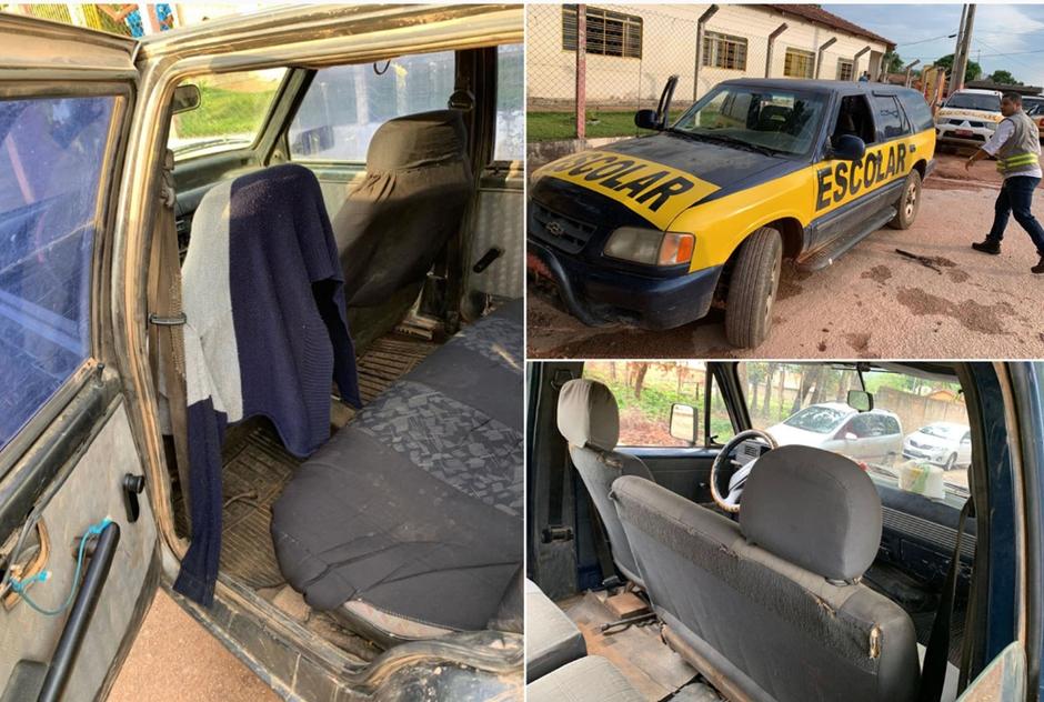 Vistoria flagra veículos escolares em más condições, em Niquelândia