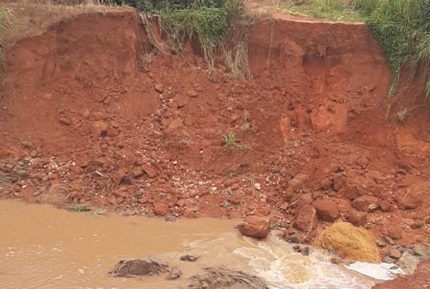 Represa que se rompeu não tinha responsável técnico pelo projeto ou pela obra, diz Asceg (Foto: João Paulo Alexandre/Mais Goiás)