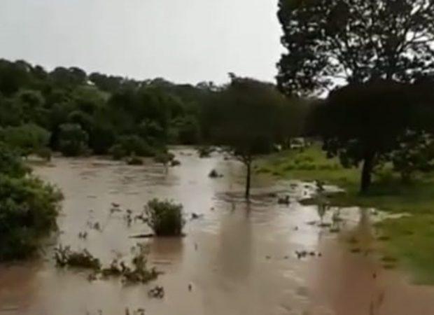 O município de Pontalina registrou, em 12h, 90% do volume de chuva previsto para todo o mês de Janeiro na cidade. (Foto: Reprodução)