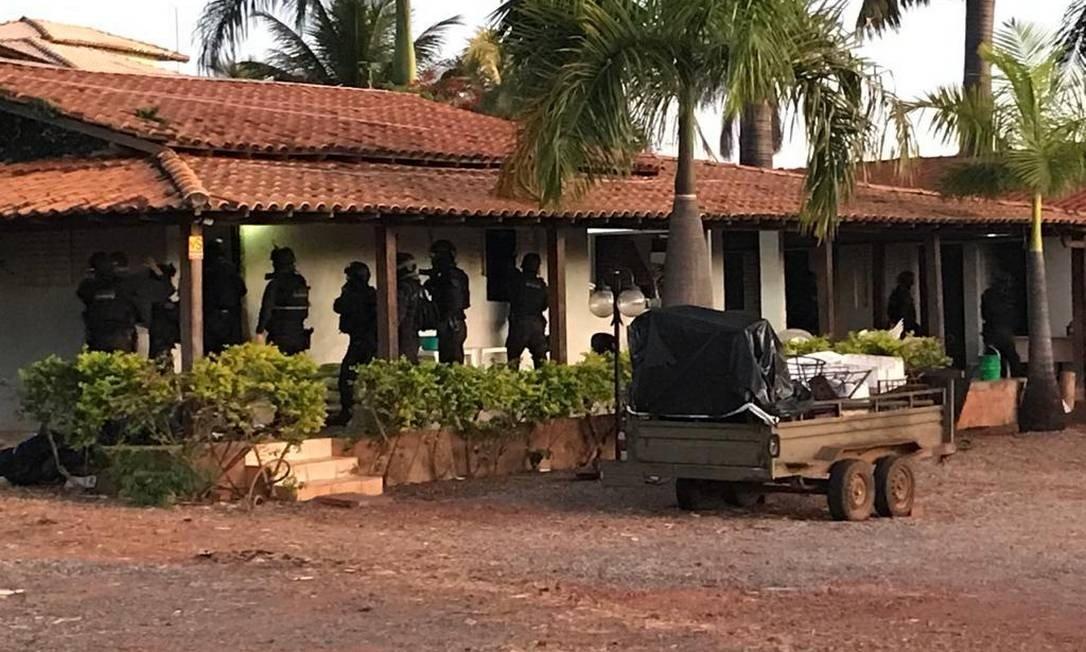 Chácara de grupo bolsonarista alvo de operação da Polícia Civil Foto: Polícia Civil do Distrito Federal