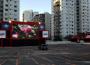 """Detalhe da estrutura do """"Cine Drive-In Xperience: Diversão a céu aberto"""" que abre ao público neste sábado (25), no estacionamento do Oliveira´s Place. (FOTO: Glauco Prado)"""