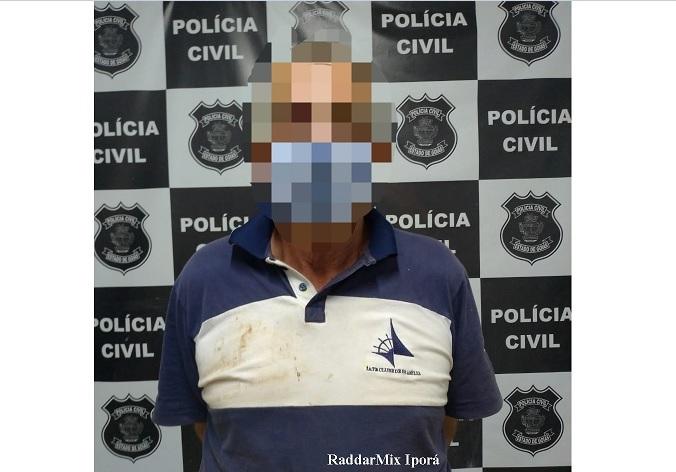 Idoso fugiu para Jataí, onde foi preso (Foto: divulgação/PC)