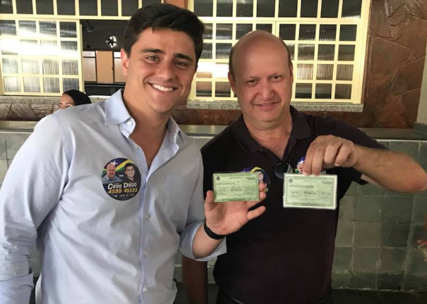 Deputados Diego Sorgatto e Célio Silveira em 2018 (Fotos: Redes Sociais)