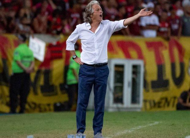 Jorge Jesus em ação no Flamengo Foto: Divulgação