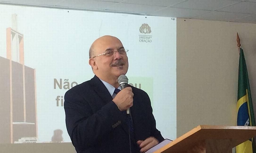O pastor e novo ministro da Educação, Milton Ribeiro, durante palestra Foto: Reprodução