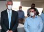 Governador Ronaldo Caiado (DEM) e o candidato a prefeito de Goiânia apoiado por ele, Vanderlan Cardoso (PSD) (Foto: Fernando Leite)