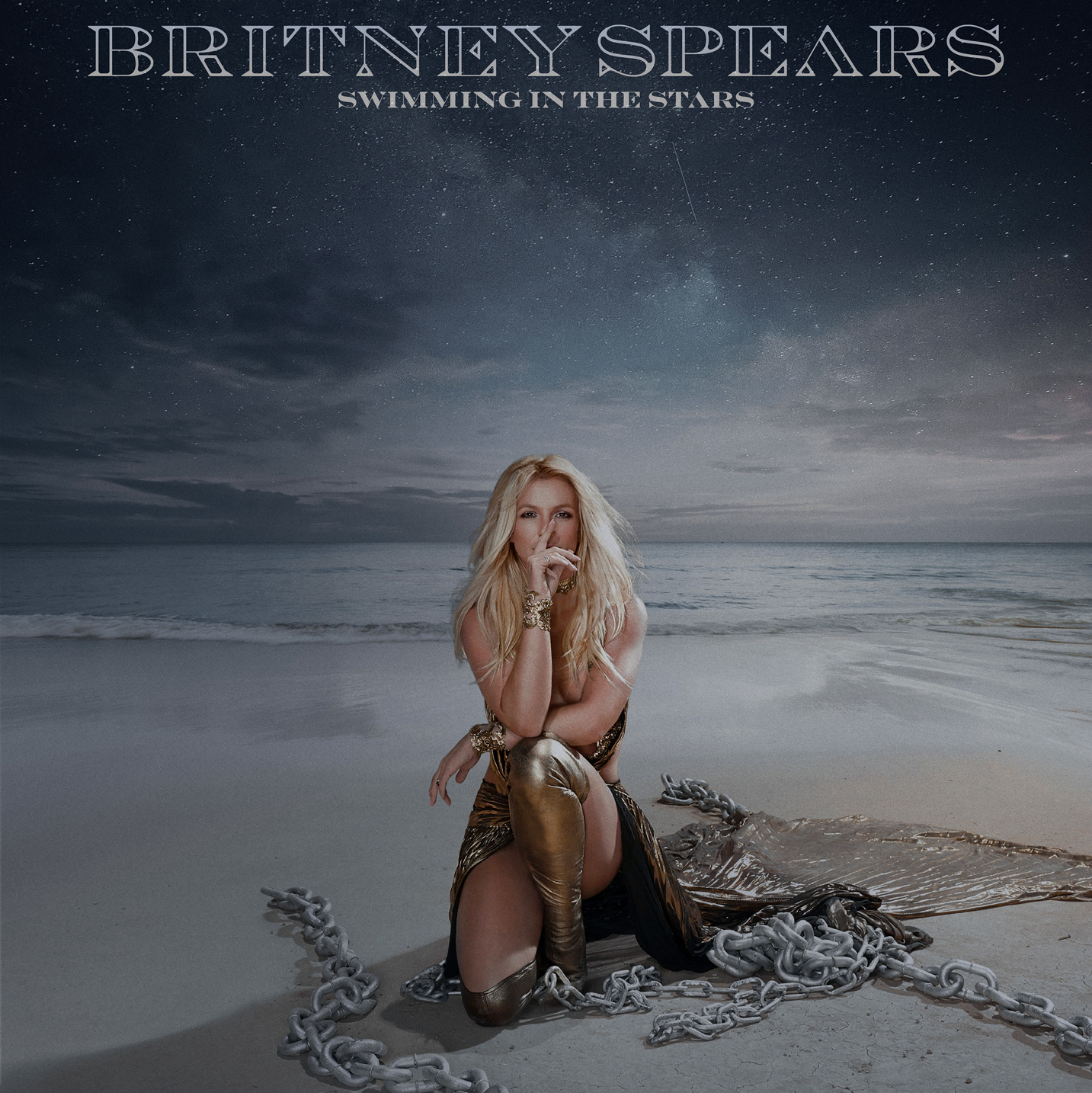 Novo single de Britney Spears, 'Swimming In The Stars', será lançado em vinil; veja capa