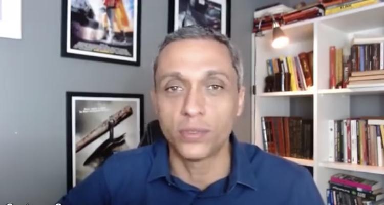 Gustavo Gayer, que em vídeo reconheceu que a lista de secretariado de Maguito que ele espalhou pode ser falsa (Foto: Reprodução)