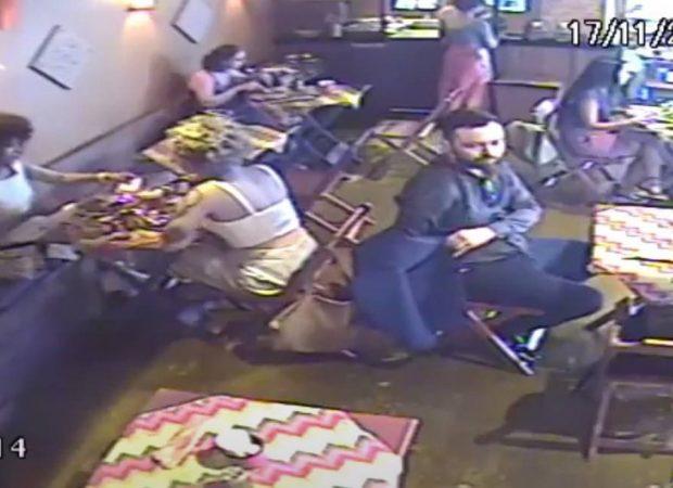 Um homem utilizou um blazer para furtar um celular e gerou prejuízo de R$ 30 mil após acessar app de bancos. (Foto: reprodução)