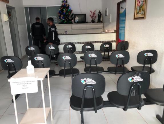 Clínica supostamente usada na fraude que lesou a prefeitura de Piracanjuba (Foto: Polícia Civil)