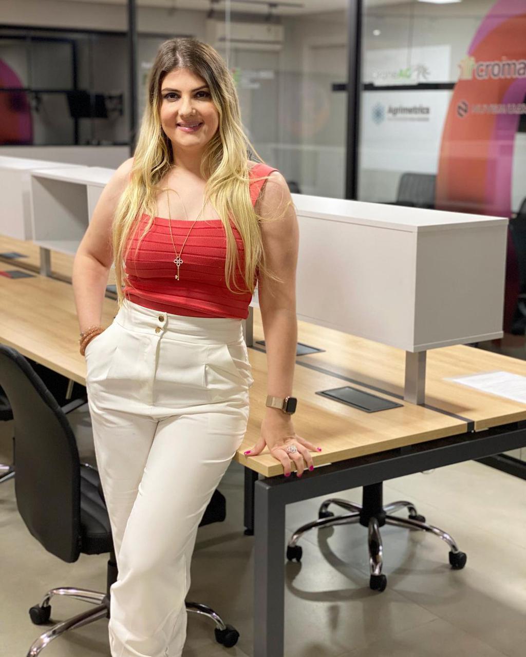A empreendedora, pioneira no segmento de Startups do Agronegócio, Nathália Secco (Foto: Arquivo Pessoal)