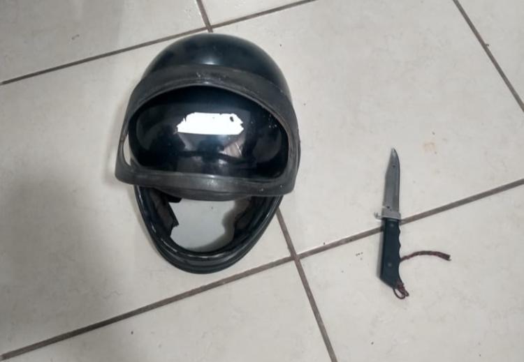Polícia prende suspeito de quebrar viatura e tentar esfaquear policiais em Morrinhos